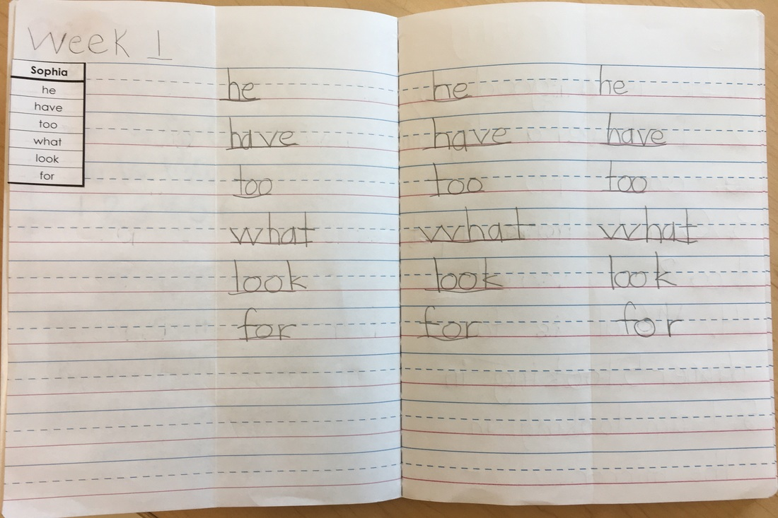 Homework Notebook Practice Mrs Fargos First Grade